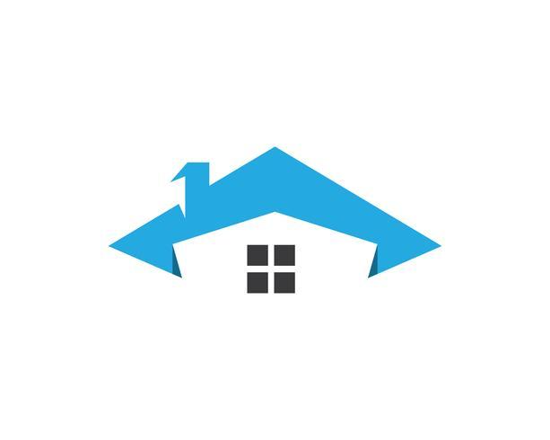 Gebäude nach Hause Logo Vektor