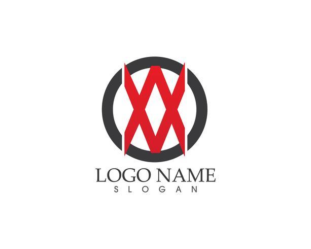 Modelo de vetor de logotipo de ícone de carta XX