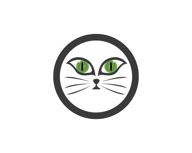 Face cat logo vector
