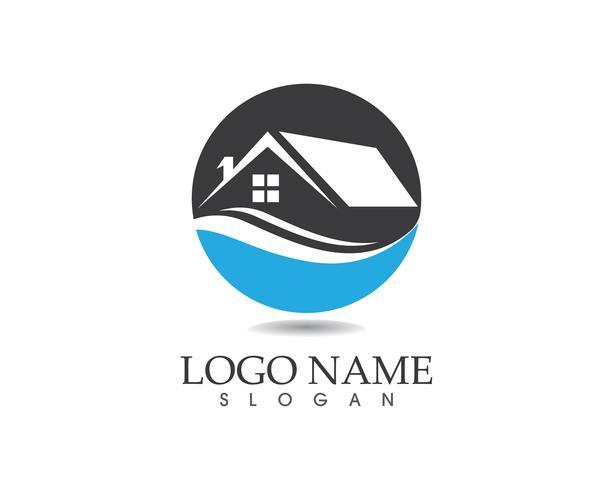 Vastgoed en bouw huis logo vector