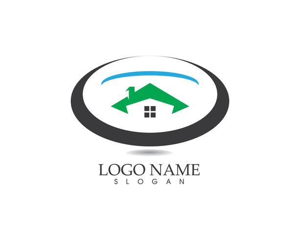 Modelo de vetor de logotipo em casa de construção