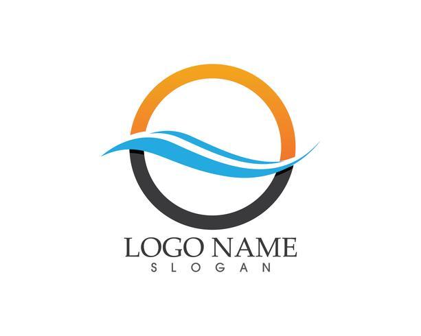 Modelo de vetor de logotipo de onda