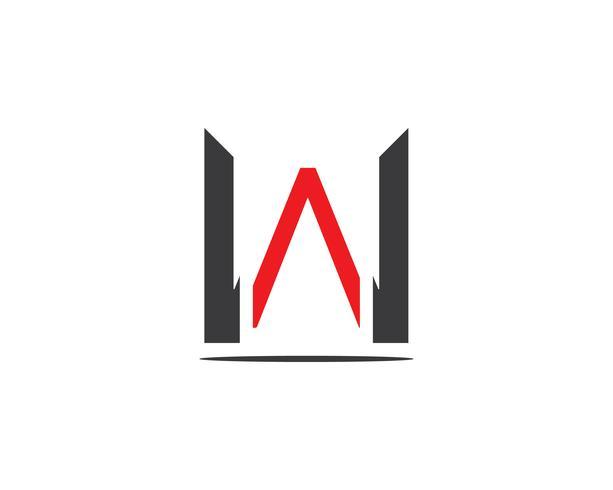 W Brief Logo Vektor Vorlage