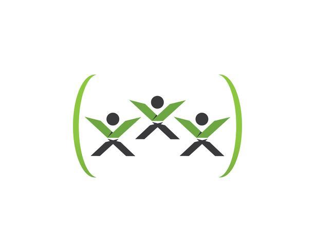 X leter people logo vector