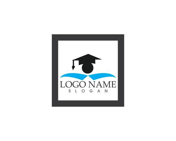Vetor de logotipo de educação