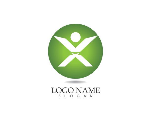 X Leter Menschen Logo Vektor