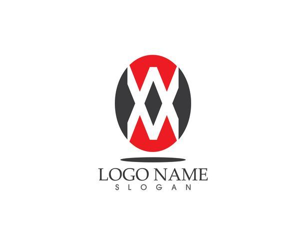 Modèle de vecteur XX lettre icône logo