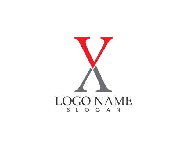 X logo lettre vecteur