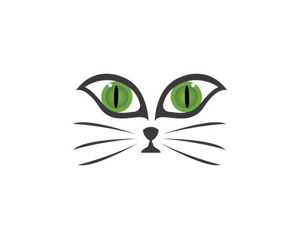 Vetor de logotipo de gato de rosto