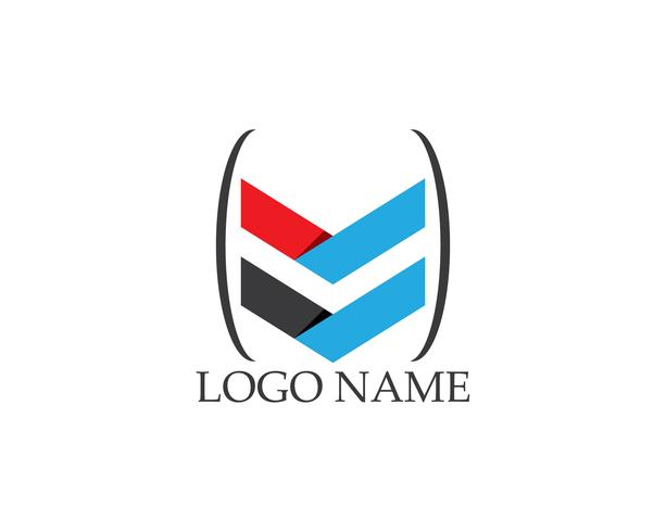 Modelo de vetor de logotipo de seta de negócios