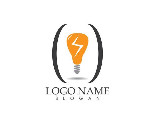 Bulb Lamp logo vector