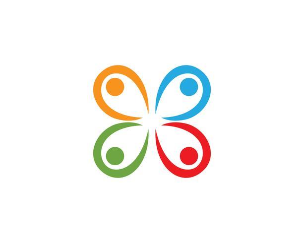 Hälsovårdspersonal logo vektor