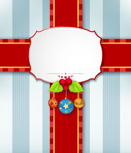 Fundo de cartão de Natal com fita