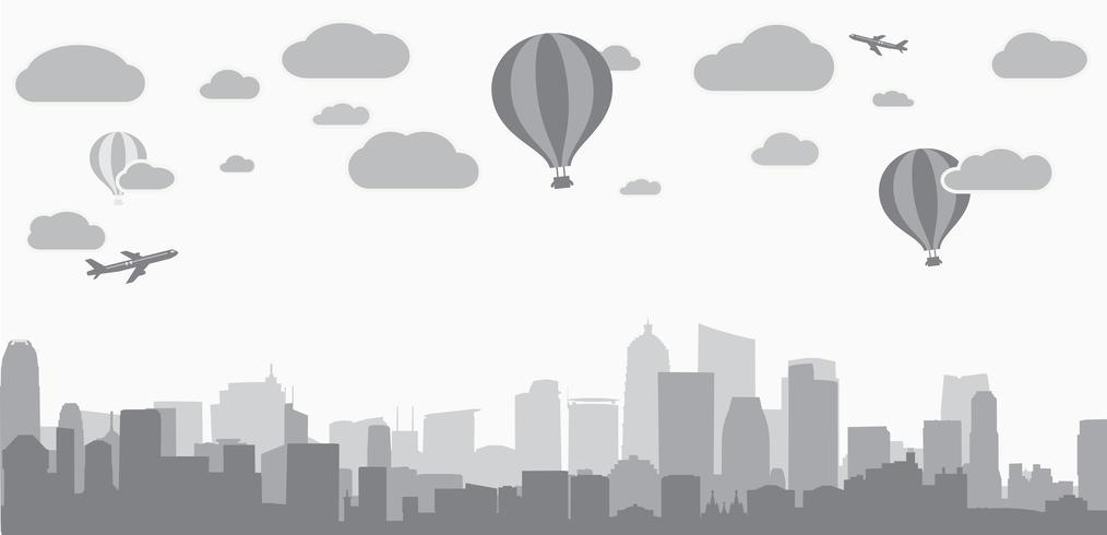 fundo da cidade para publicidade de serviços imobiliários