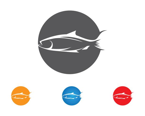 Vetor de logotipo de ícone de peixe