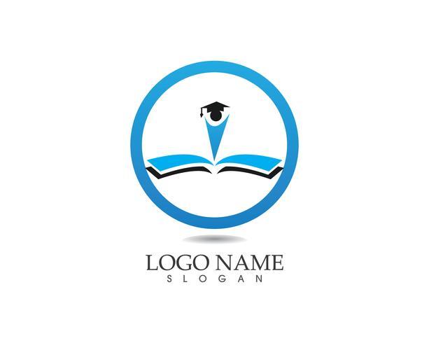 Modello di vettore di logo di educazione