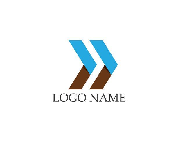 Zakelijke pijlen logo vector sjabloon