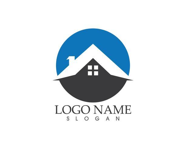 Bienes raíces y construcción de casa logo vector
