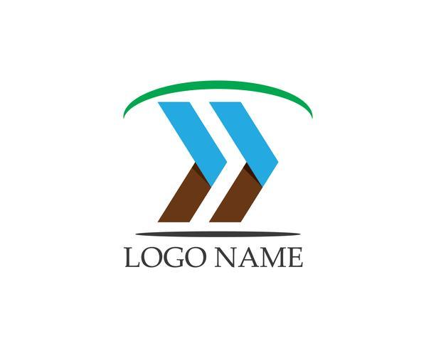 Modello di vettore di logo di affari freccia