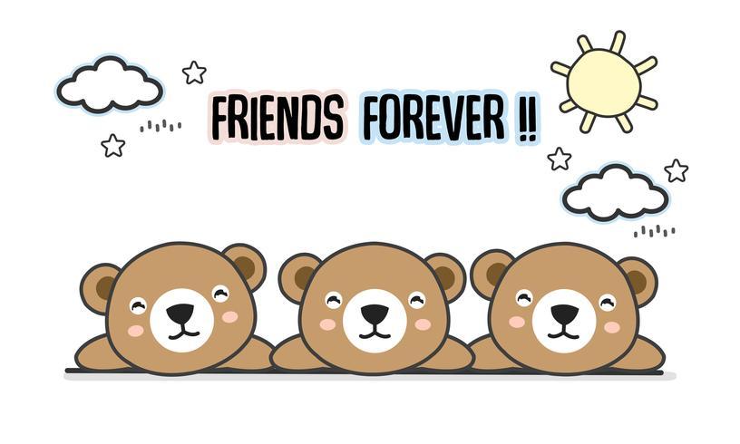 Amigos para siempre lleva ilustración vectorial