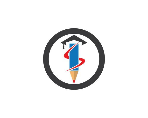 Modelo de vetor de logotipo de educação