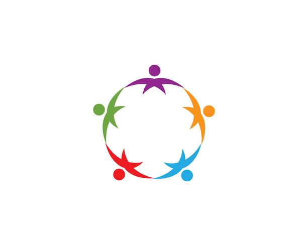 Modelo de vetor de logotipo de pessoas de cuidados de saúde