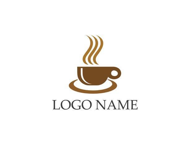 Koffiekopje Logo Template vector pictogram ontwerp