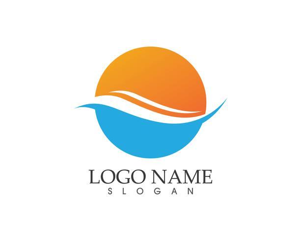 Modello vettoriale logo Wave