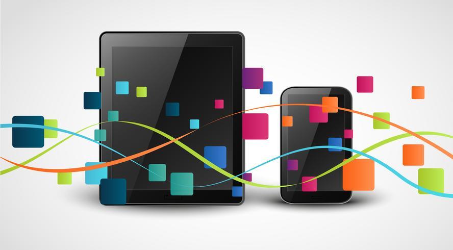 Fondo di concetto dell'icona dei apps di Smartphone