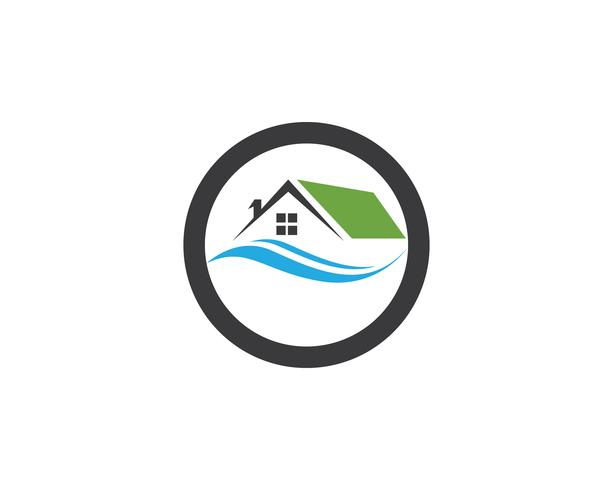 Real estate and building home logo vector template