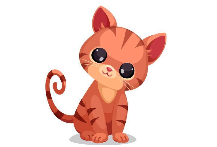 Mignon petit vecteur de chaton