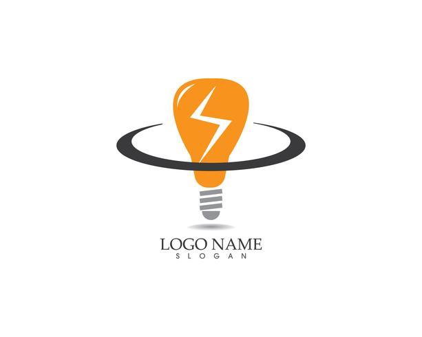 Vecteur de logo lampe ampoule