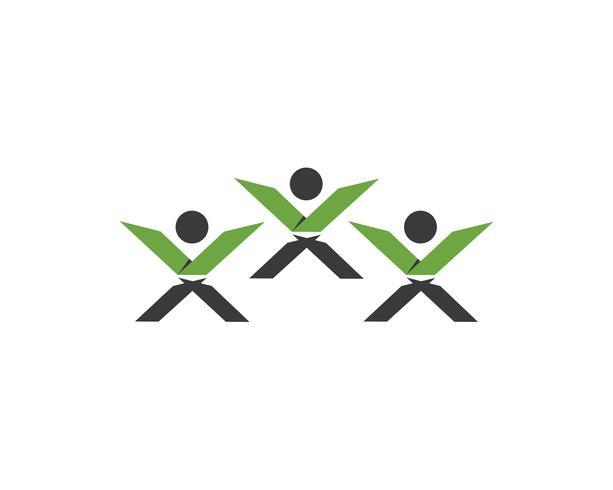 Vecteur de logo X leter people