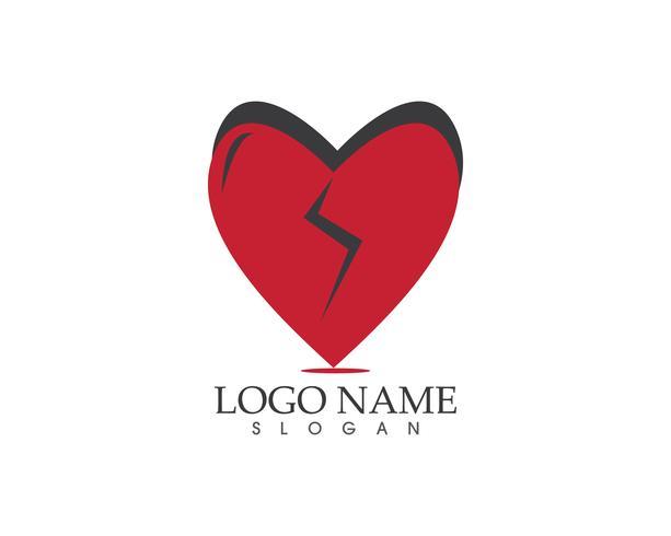 Amore logo icona vettoriale