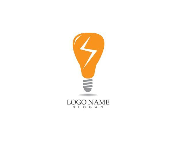 Lampe Lampe Logo Vektor