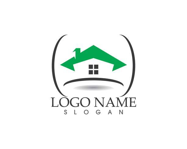 Plantilla de vector de logotipo casa de construcción