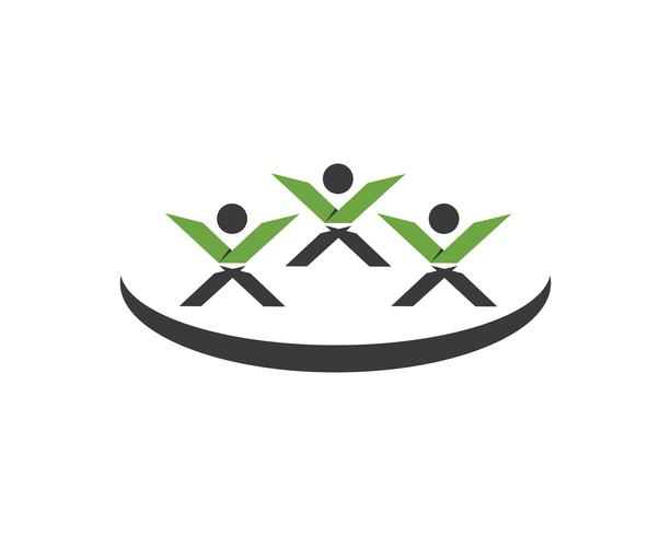 X leter mensen logo vector