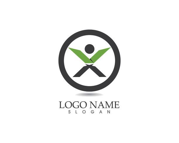 X leter logo vettoriale persone