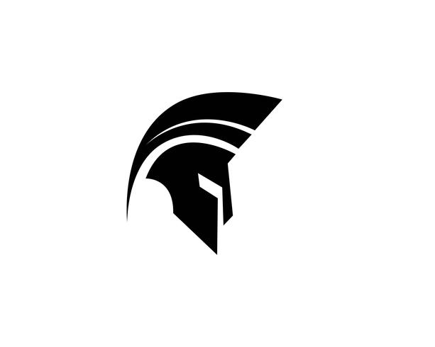 Spartanischer Sturzhelmlogovektor