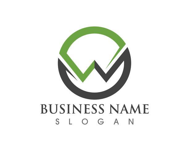 Modèle de logo et symboles commerciaux W logo