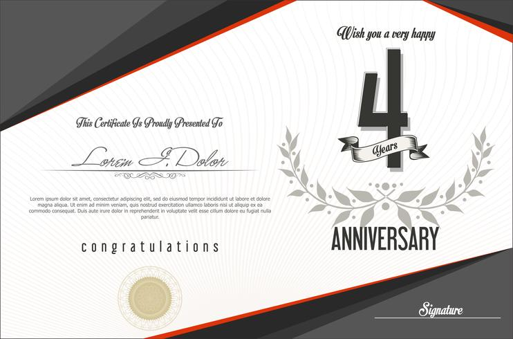 anniversary background template