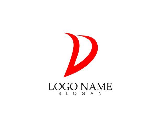 D logo e simboli modello icone app