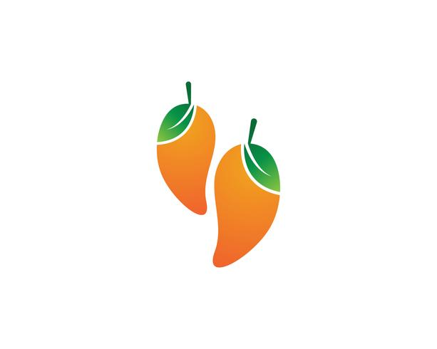 Frutto di mango simbolo del logo vettoriale