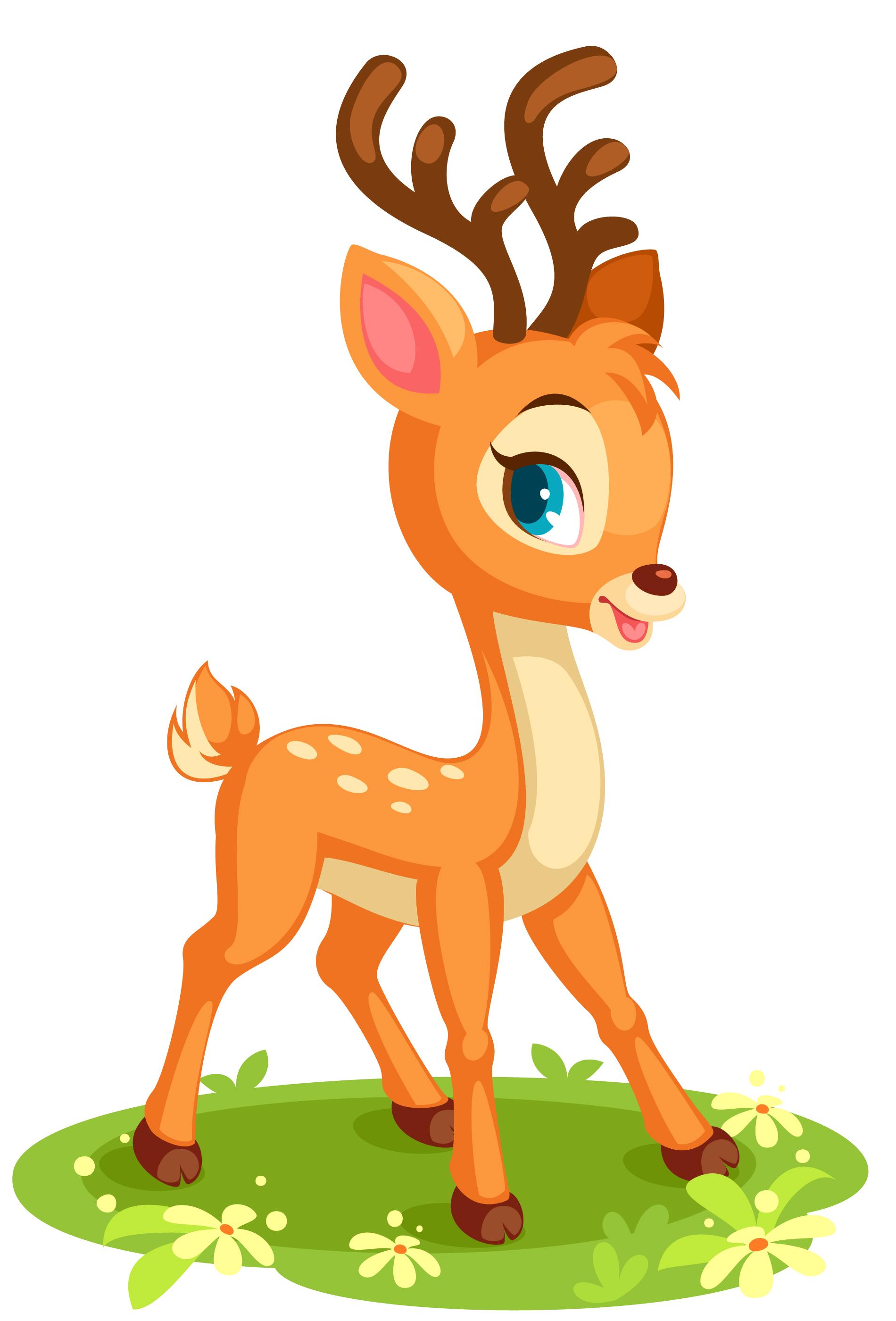 Cute baby deer in pose - Download Free Vectors, Clipart ...