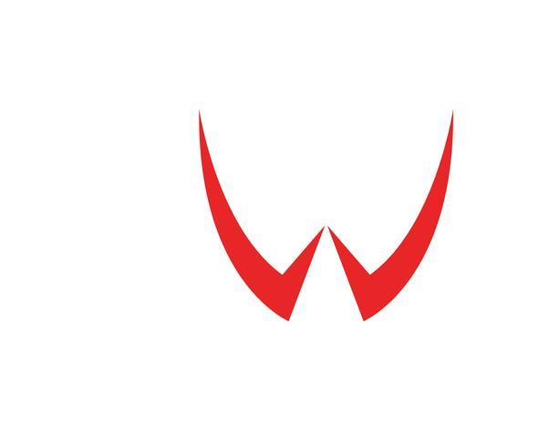 Plantilla de símbolos y logotipo de empresa de letras W vector