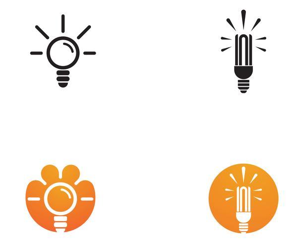 plantilla de ilustración de vector logo bulbo