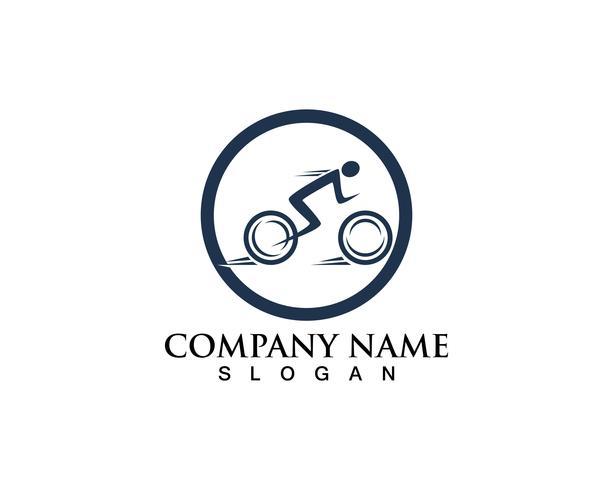 Vector logo y símbolos de bicicleta