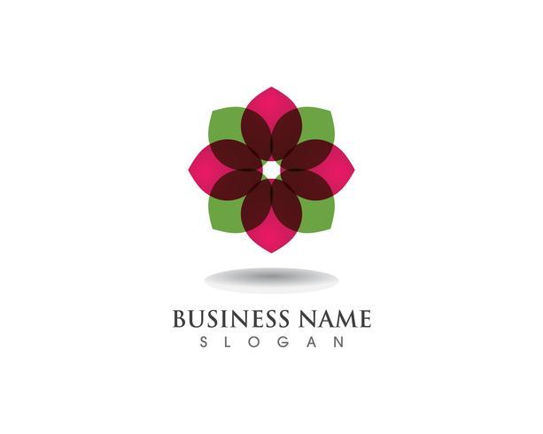Logo de motivos florales y símbolos sobre un fondo blanco.