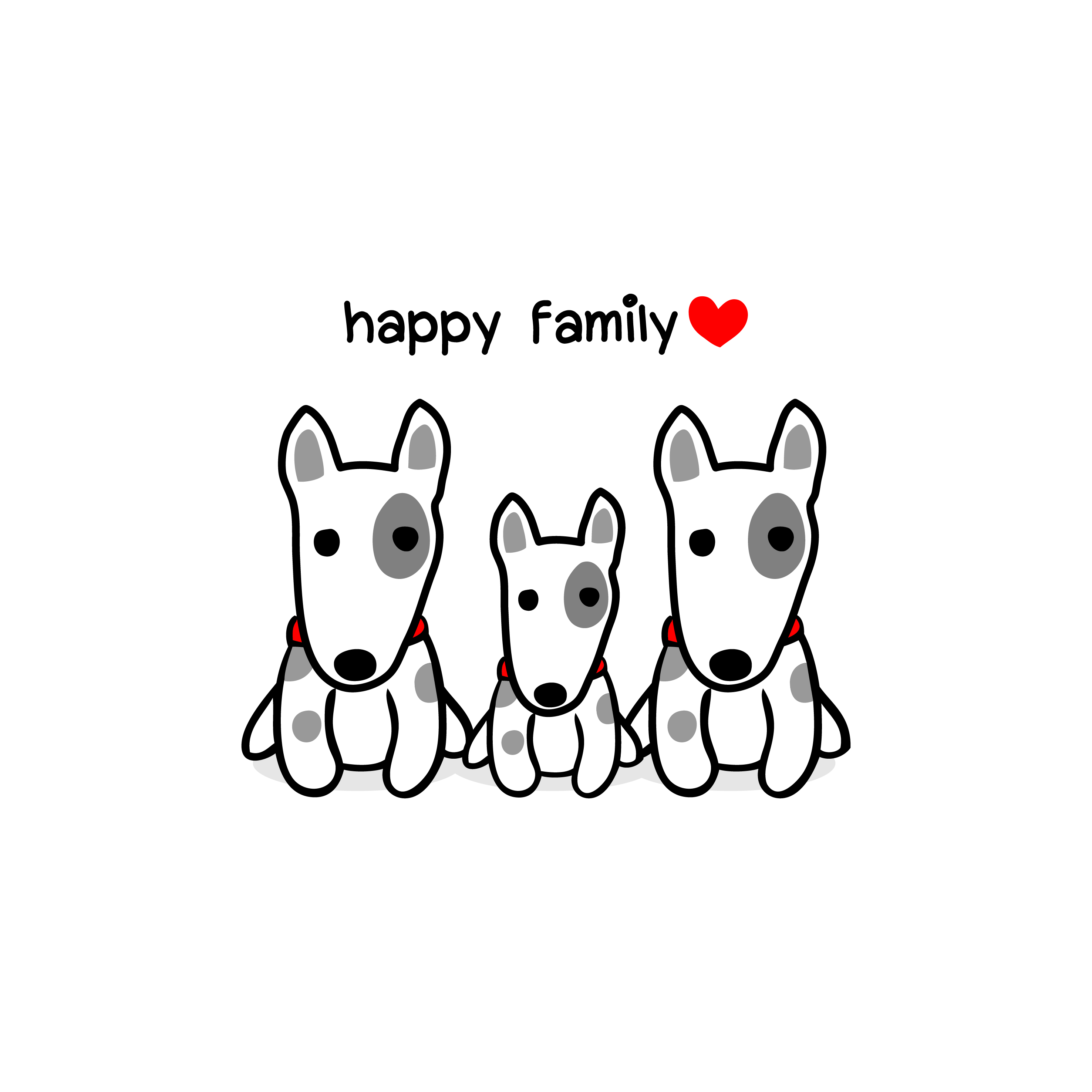 Cute Mother Father And Baby Dog Happy Animal Family Cartoon Vector Illustration Download Free Vectors Clipart Graphics Vector Art