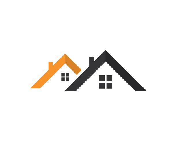 Modèle d'icônes logo maison maisons